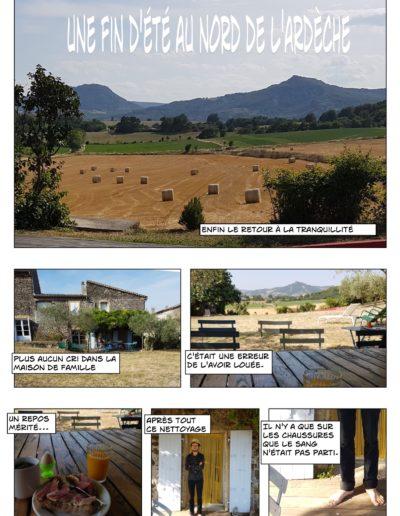 Mini BD : une fin d'été au nord de l'Ardèche